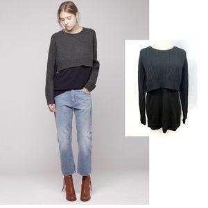 Acne Hurst Tiered Merino Wool Sweater
